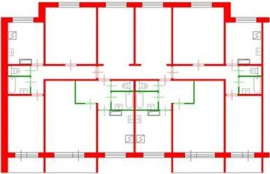 Как по плану квартиры определить несущие стены?