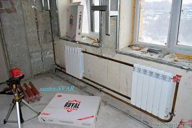 Как подключить два радиатора отопления между собой?