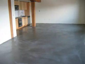 Бетонный пол в квартире как чистовой пол?